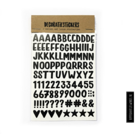 Decoratiestickers letters