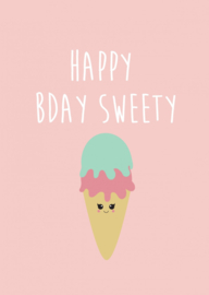 Kaart Happy bday sweety