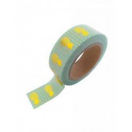 Masking tape Ananas mint/goud foil