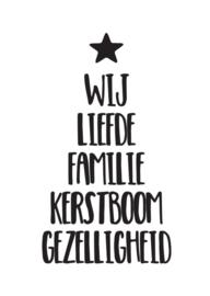 Kerstkaart Kerstboom woorden