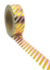 Masking tape Stripe roze/goud