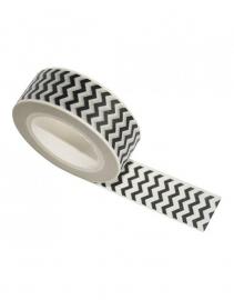 Masking tape Zigzag wit