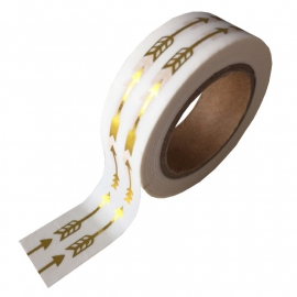 Masking tape Arrow wit/goud foil