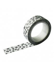 Masking tape  Wit met zwarte sterren