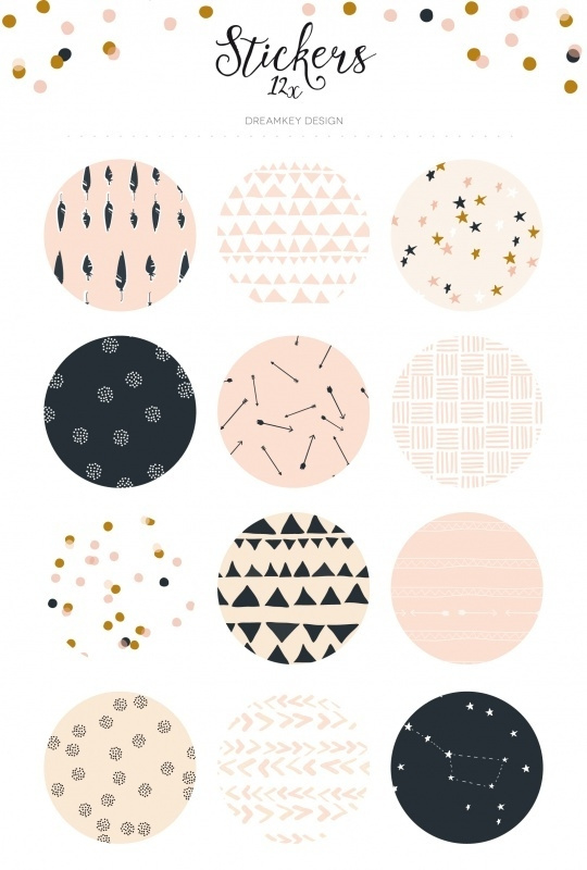 Stickervel pattern