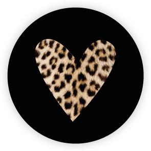 Sluit stickers / etiketten Hart luipaard (10 stuks)
