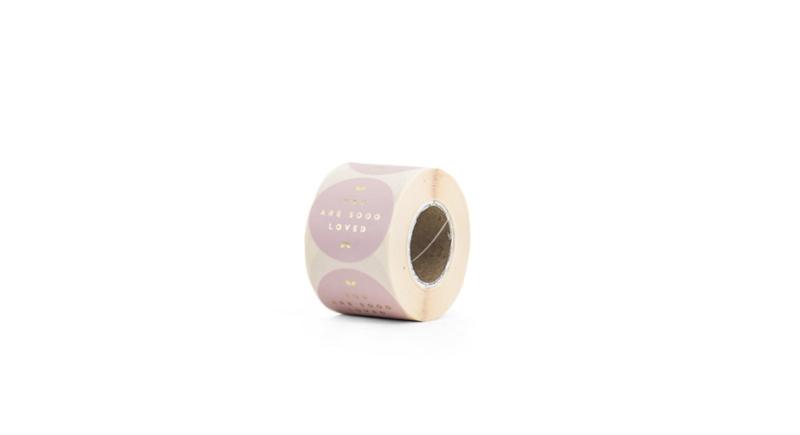 Sluit stickers / etiketten You are sooo loved pink (10 stuks)