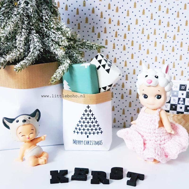 Dollhouse paperbag Christmas tree