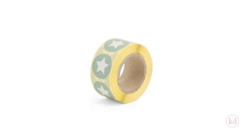 Sluit stickers / etiketten mint STAR (10 stuks)