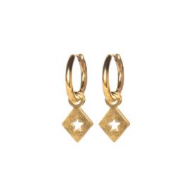 EARRINGS TRIANGLE STAR GOLD