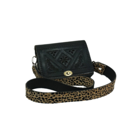 CHEETAH PRINT BAG BIG BLACK