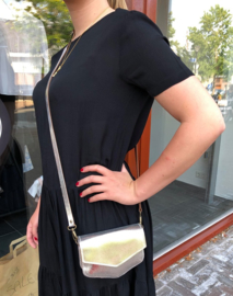 ELVY BAGS Leather Bag Silver
