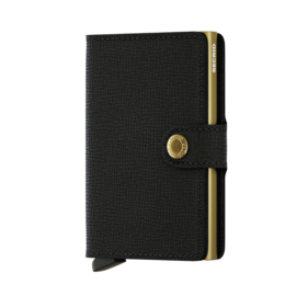 SECRID Miniwallet Crisple Black - Gold