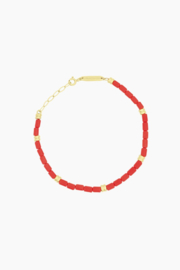 WILDTHINGS CORAL BRACELET GOLD