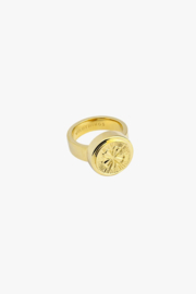 WILDTHINGS LUCKY PINK RING GOLD