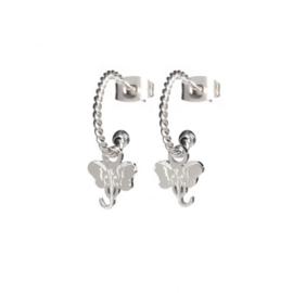 EARRINGS TWISTED ELEPHANT STEEL