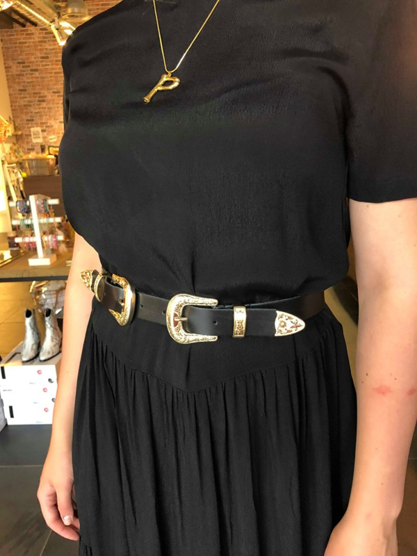 ELVY BAGS cowboy belt gold