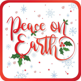 Onderzetters - Pack of 6 coasters - Peace on Earth ISBN:5060427975614