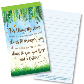 Small Kladblok - Jotter Pads - J130 - For I know the plans ISBN:5060427977984