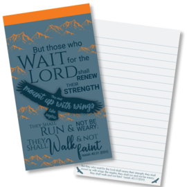 Small Kladblok - Jotter Pads - J128 - But those who wait The Lord  ISBN:5060427977960