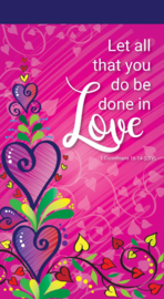 Small Kladblok - Jotter Pads - J118 - Let all that you do be done in love ISBN:5060427975171