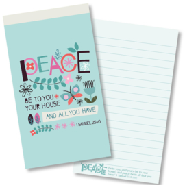 Small Kladblok - Jotter Pads - J131 - Peace be to your house ISBN:5060427977991