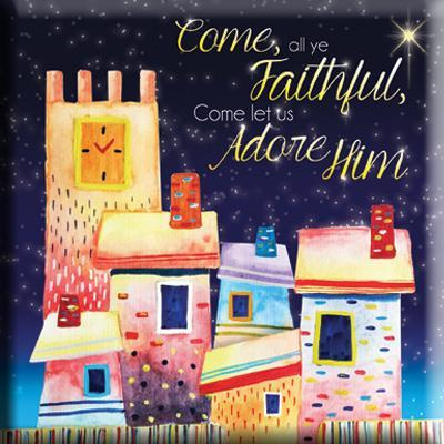 Magnet, small, €2.50 - Come all ye Faithful ISBN:5060427972507
