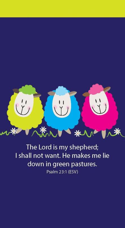Small Kladblok - Jotter Pads - J114 - The Lord is my Shepherd ISBN:5060427975133
