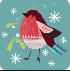 Onderzetters - Pack of 6 coasters - Bird ISBN:5060780840420