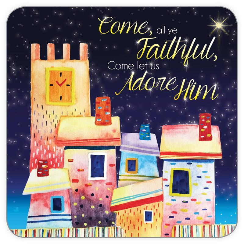 Magnet and Coaster, €3.50 - Come all ye faithful ISBN:5060427972804