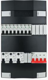 3-fase Schneider groepenkast met 8 installatieautomaten met 6 modules vrij voor extra opties (volgens nieuwe NEN1010 norm)
