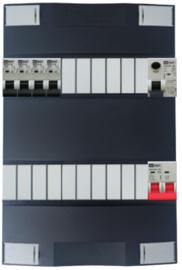 1-fase Schneider groepenkast met 4 Emat installatieautomaten met 16 modules vrij voor extra opties