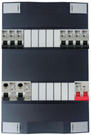 1-fase Schneider groepenkast met 7 Emat installatieautomaten met 11 modules vrij voor extra opties