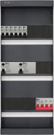 3-fase groepenkast met 6 installatieautomaten met 18 modules vrij voor extra opties