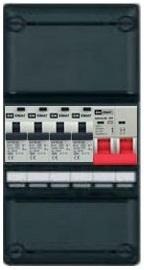 1-fase groepenkast met 4 aardlekautomaten