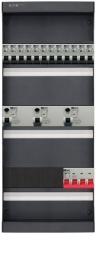 3-fase groepenkast met 12 installatieautomaten met 8 modules vrij voor extra opties