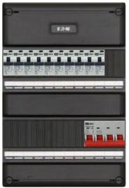 3-fase groepenkast met 10 aardlekautomaten met 10 modules vrij voor extra opties