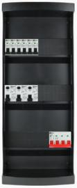 3-fase groepenkast met 6 installatieautomaten en 3 aardlekschakelaars met 20 modules vrij voor extra opties (volgens nieuwe NEN1010 norm)