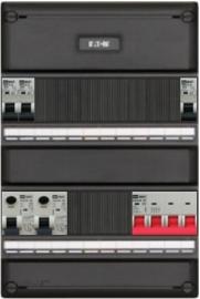 3-fase groepenkast met 3 installatieautomaten met 13 modules vrij voor extra opties (volgens nieuwe NEN1010 norm)