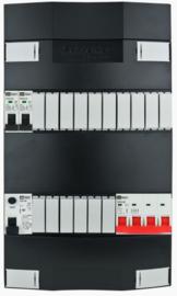 3-fase Schneider groepenkast met 2 installatieautomaten met 16 modules vrij voor extra opties (volgens nieuwe NEN1010 norm)