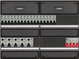 3-fase groepenkast met 17 installatieautomaten en met 17 modules vrij voor extra opties (volgens nieuwe NEN1010 norm)