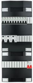 1-fase groepenkast met 10 installatieautomaten met 18 modules vrij voor extra opties