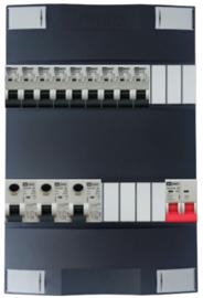1-fase Schneider groepenkast met 9 Emat installatieautomaten met 7 modules vrij voor extra opties