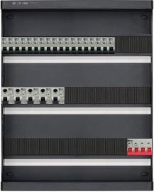 3-fase groepenkast met 18 installatieautomaten en met 40 modules vrij voor extra opties (volgens nieuwe NEN1010 norm)