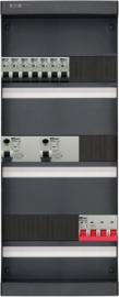 3-fase groepenkast met 7 installatieautomaten met 17 modules vrij voor extra opties