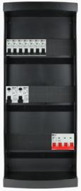 3-fase groepenkast met 7 installatieautomaten met 21 modules vrij voor extra opties (volgens nieuwe NEN1010 norm)