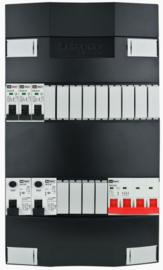 3-fase Schneider groepenkast met 3 installatieautomaten met 13 modules vrij voor extra opties (volgens nieuwe NEN1010 norm)