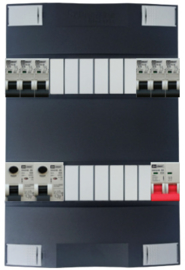 1-fase Schneider groepenkast met 6 Emat installatieautomaten met 12 modules vrij voor extra opties