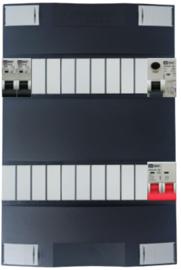 1-fase Schneider groepenkast met 2 Emat installatieautomaten met 18 modules vrij voor extra opties