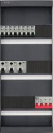 3-fase groepenkast met 8 installatieautomaten en 3 aardlekschakelaars met 18 modules vrij voor extra opties (volgens nieuwe NEN1010 norm)
